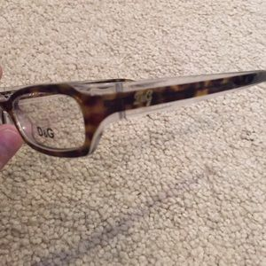 Brand new brown and clear translucent D & G frames